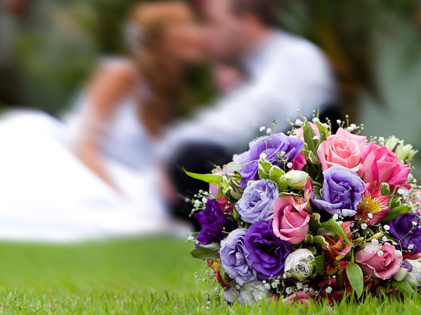 Стих на свадьбу букет